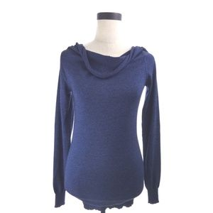 Blue Cowl Sweater Top Size Small